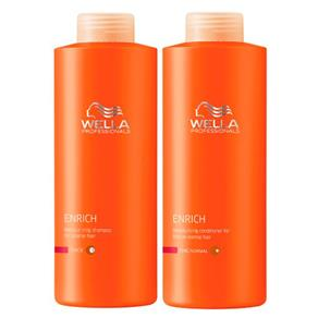 Kit Shampoo + Condicionador Wella Professionals Enrich Moisturizing