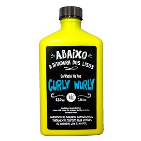 Lola Cosmetics Curly Wurly Co - Wash No - Poo 2 Em 1 - Shampoo 230Ml