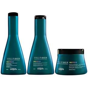 Loreal Pro Fiber Restore Shampoo ( 250ml ) , Condicionador ( 200ml ) e Máscara ( 200ml )