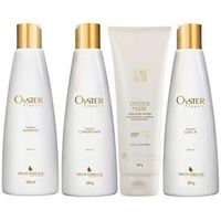 Mediterrani Oyster Repair Kit Shampoo ( 250ml ) , Condicionador ( 250g ) , Máscara ( 200g ) e Leave - in ( 250g )