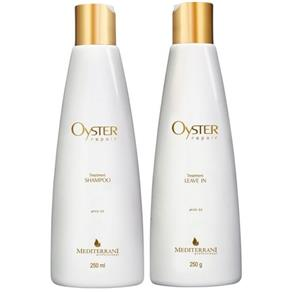 Mediterrani Oyster Repair Kit Shampoo ( 250ml ) e Leave - in ( 250g )