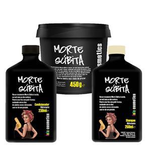 Morte Súbita - Condicionador + Shampoo + Máscara Reconstrutora Kit