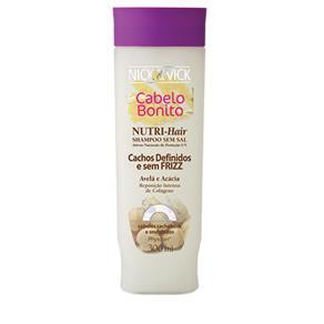 Nutri - Hair Cachos Definidos e Sem Frizz Nick - Shampoo para Cabelos Cacheados