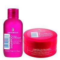 Poker Straight + Hair Growth Treatment Lee Stafford - Kit Shampoo Disciplinador 75ml + Máscara Hidratante 200ml Kit