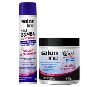 Salon Line Kit SOS Bomba de Vitaminas Shampoo Bombástico e Máscara