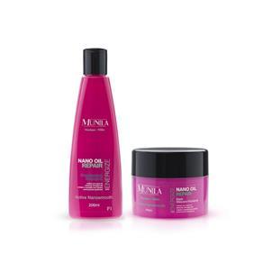Shampoo + Máscara Hidratante Energize Nano Oil Repair - Munila - 7898611381136k