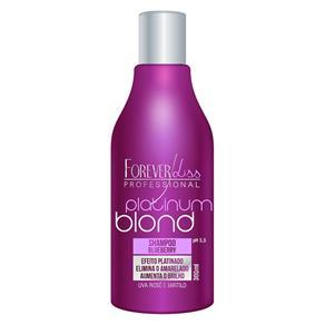 Shampoo Matizador Blueberry Platinum Blond Uso Diário Manutenção Forever Liss