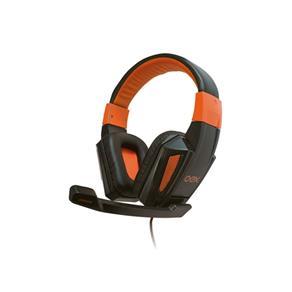 Headset / Fone com Microfone Gamer OEX Combat HS205 Preto / Laranja