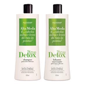 Kit Alta Moda 7 Ervas Tratamento Detox Shampoo 300ml + Bálsamo Suavizante 300ml