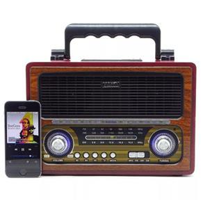 Radio Retro Am / fm, Bluetooth Com Entrada Usb, Micro Sd