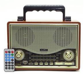 Radio Portatil Am / FM Retro com Bluetooth entrada USB e Micro SD