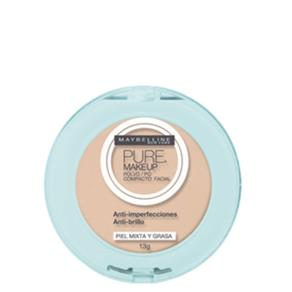Maybelline Pó Compacto Pure Make Up - Natural Anti - Imperfeições e Antibrilho