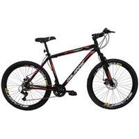 Bicicleta Aro 26 Alumínio Duplo Freio a Disco 21 Marchas Preta preto