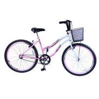 Bicicleta Aro 26 F. Beach Rosa C / Branca Dalannio Bike