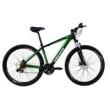 Bicicleta aro 29ER Freio a Disco 24 Velocidades Cambios Shimano Preto Verde - Venzo Falcon