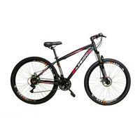 Bicicleta AZONIC cambios Shimano aro 29 freio a disco 21v - VERMELHA - Quadro 19 vermelho