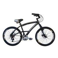 Bicicleta Cannon Aro 26 Beach 21 Marchas Kit Shimano Yamada Freio a Disco - Confort preto
