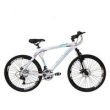 Bicicleta Cannon Aro 26 MTB 24 Marchas Kit Shimano Sunrace Rosca Freio a Disco - Savage branco