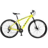 Bicicleta Colli Aro 29 MTB 21 Marchas Shimano Suspensão Dianteira Freios á Disco amarelo