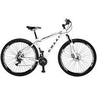 Bicicleta Colli Aro 29 MTB 21 Marchas Shimano Suspensão Dianteira Freios á Disco branco