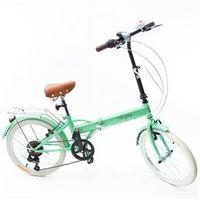 Bicicleta Dobrável Fenix - Marcha Shimano 6 Veloc. - Green verde