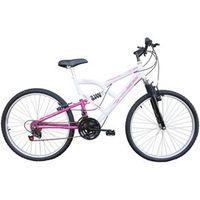 Bicicleta Mormaii Aro 26 Full Fa240 Fem 18V Branco / Rosa - 39 - 034