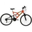 Bicicleta Mormaii Aro 26` Fullsion 18Vlaranja Neon - 2011858