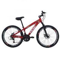 Bicicleta TUFF25 Freeride Aro 26 Freio a Disco 21 Velocidades Câmbios Shimano - VikingX - VK. VMO vermelho
