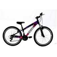 Bicicleta TUFF25 Freeride Aro 26 V - Brake 21 Velocidades Cambios Shimano Preto / Rosa - Vikingx - VKV. PR