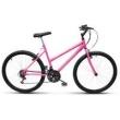 Bicicleta Ultra Aro 26 Feminina 18 Marchas V - Brake Rosa rosa
