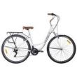 Bicicleta Vintage Retrô Alumínio 21V Shimano City Branca branco