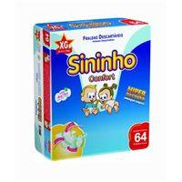 Fralda Sininho Confort Hiper Pacotão EXG - 256 Unidades + Toalhinha Umedecida Personalidade 50 unidades
