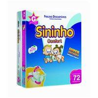 Fralda Sininho Confort Hiper Pacotão G - 288 Unidades + Toalhinha Umedecida Personalidade 50 unidades