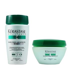 Kerastase Résistance Duo Kit Shampoo Bain De Force Architecte E Máscara Force Architecte