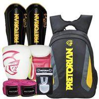 Kit Boxe Pretorian 10Oz + Protetor Canela + Mochila Basic 4