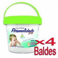 Lenço Umedecido Personalidade Balde Verde 400 Unidades - 4 Baldes