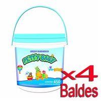 Lenço Umedecido Petty Baby Balde Azul 450 Unidades - 4 Baldes