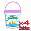 Lenço Umedecido Petty Baby Balde Rosa 450 Unidades - 4 Baldes