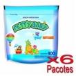 Lenço Umedecido Petty Baby Refil Balde 400 Unidades - 6 Pacotes