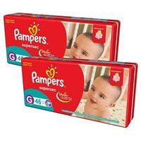 Pack Fraldas Pampers Supersec Hiper Econômico G com 138 unidades