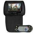 Tela Encosto Cabeça 7 Polegadas Preto DVD USB SD Fone Função Game Zíper Controle