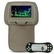 Tela Encosto Cabeça 7 Polegadas USB SD DVD MP3 Game Bege com Zíper Controle