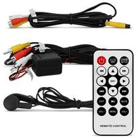 Tela Encosto Cabeça 7 Polegadas USB SD MP3 AUX Preta com Zíper e Controle Remoto