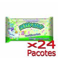 Toalhinha Umedecida Petty Baby 50 Unidades - 24 Pacotes