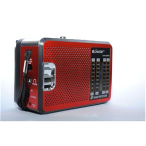 RADIO 4 BANDAS AM / FM / SW / USB / SD 2W BIVOLT RECARREGAVEL