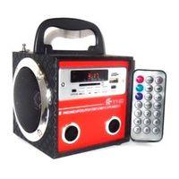 Caixinha De Som 10W Caixa Portatil Com Radio Fm, Entrada Usb E Pen Drive Mp3 E Entrada Auxiliar Com Controle Remoto