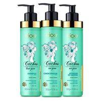 Kit Com 3 Produtos - Shampoo, Condicionador e Ativador Cachos Extraordinários