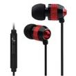 Fone de ouvido - apphome telefones fone de ouvido orelha estilo ear fones de ouvido que funcionam vermelho