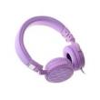 Fone de ouvido - Damm excelente luz E8 roxo Headset