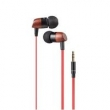 Fone de ouvido - Eco HiSound audiowooduo 2 fones de ouvido música headset telefone vermelho